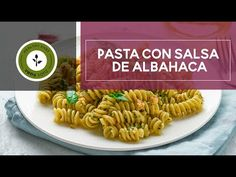 PASTA CON SALSA DE ALBAHACA - YouTube