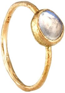 yellow gold with moonstone.. love the modern vibe & minimalism!!