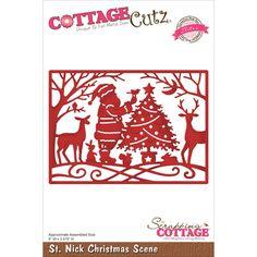 CottageCutz Elites Die - St. Nick Christmas Scene