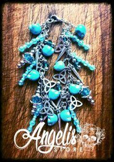 Howlite Skull and Infinity Charm Bracelet Infinity Charm, Turquoise Necklace, Skull, Charmed, Bracelets, Stuff To Buy, Jewelry, Jewlery, Jewerly
