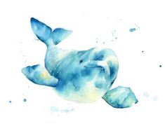 Beluga whale Print watercolor beluga by TheDailyWatercolor Best Picture For types of Mammals For Your Taste You are looking … Whale Painting, Watercolor Whale, Painting Of Girl, Watercolor Animals, Watercolor Paintings, Watercolors, Whale Decor, Whale Nursery, Whales