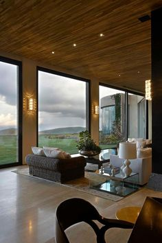 (What a gorgeous room) Sophisticated Rustic Feel - Impressive Wood And Stone House by Eduarda Correa