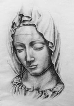 para tatuar virgen maria