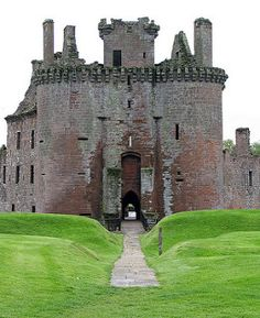 To visit medieval castles in Europe, preferably Scotland, Ireland and France. (Caerlaverock Castle, near Dumfries, Scotland. Photograph by Justin Kane) Chateau Medieval, Medieval Castle, Scotland Castles, Scottish Castles, Scotland Uk, Beautiful Castles, Beautiful Places, Chateau Moyen Age, The Places Youll Go