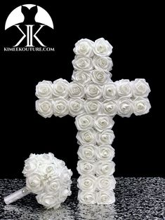 ROSE CROSS CENTERPIECE. CHRISTENING Centerpiece. Holy COMMUNION Centerpiece. Religious Wedding Centerpiece. Baptism Party. Christening Party. PICK ROSE COLOR!  Beautifully crafted CROSS with a Laser Cut wood backing and covered in PREMIUM Real Touch Roses.  Measures: Approximately 23.5 tall Christening Centerpieces, Communion Centerpieces, Red Centerpieces, Dusty Rose Wedding, Aqua Wedding, Bling Wedding, Wedding Gifts, Burnt Orange Weddings, Hot Pink Weddings