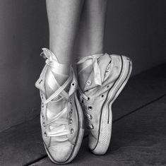 high top ballerina slippers ....