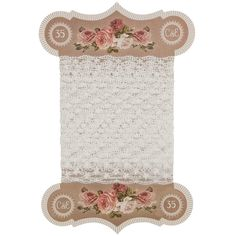 Lace ribbon-pretty floral card to store your lace or ribbon
