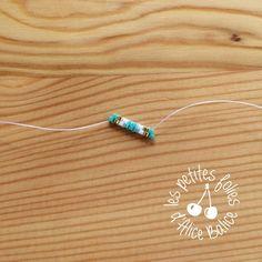 Tutoriel : Tissage brick stitch - Level 1 - Alice Balice - couture et DIY loisirs créatifs Diy Seed Bead Earrings, Feather Earrings, Beaded Earrings, Earrings Handmade, Beading Patterns Free, Beading Tutorials, Earring Tutorial, Bracelet Tutorial, Bead Jewellery