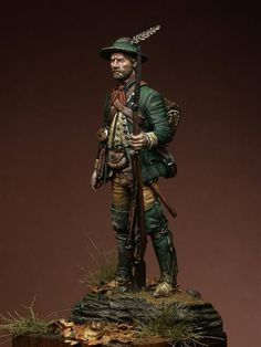 Colonial Ranger, North America - 1758 - Virtual Museum of Historical Miniatures Military Figures, Military Diorama, Virtual Museum, American War, 18th Century, Colonial, Ranger, North America, Miniatures