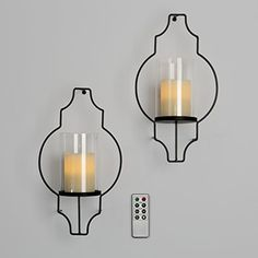 Decorative Wall Sconce 2pc Midnight Elegance Candle Modern Wall Sconce Decor