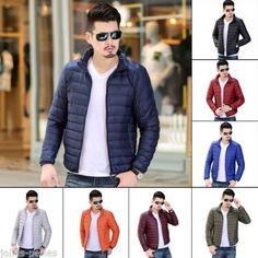JP Men White Duck Down Jacket Winter Thin Warm Solid Mens Down Jacket S-3XL