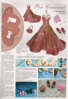 Miniature gown and shoes by Mis trabajos publicados