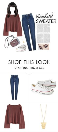 """""""Sweater Weather"""" by vale14m on Polyvore featuring moda, Topshop, Converse, Chicwish, Gorjana e wintersweater"""
