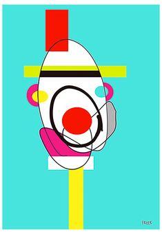 Pazy Pat Pot by Sam Freek - Contemporary art prints for the modern home - #art #artprint #abstractart #portrait