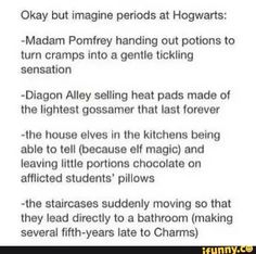 Periods in Hogwarts.