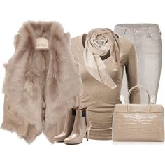 """Shades of beige"" by lenaick on Polyvore"
