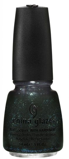 Smoke and Ashes by China Glaze. Another of the Hunger Games collection. It looks black, but when the light hits it just right the green pops out!