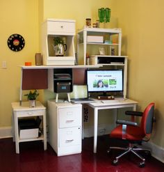 upcycled entertainment center from end tables. from the Made + Remade website on DIY Network!