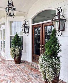 Brick porch entry