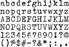 Vintage Type - Vintage Typewriter Fonts - Underwood