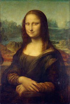 Leonardo da Vinci, Mona Lisa (1503–1517). Courtesy of the Lourve, via Wikipedia Commons.
