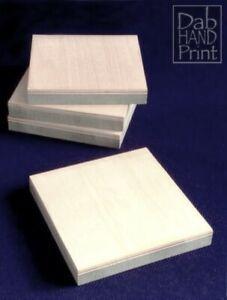 Pack of mounted woodcut blocks 10 cm x 10 cm Starter Pack.