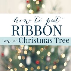 How to put ribbon on a Christmas tree: updated A super easy step by step tutorial to create the Christmas tree of your dreams. How to put ribbon on a Christmas tree: updated A super easy step by step tutorial to create the Christmas tree of your dreams. Frozen Christmas Tree, Pretty Christmas Trees, Ribbon On Christmas Tree, Christmas Tree Themes, Christmas Tree Toppers, Rustic Christmas, White Christmas, Merry Christmas, Christmas Mantles