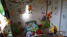Jungle room! Jungle Room, Small World Play, Imaginative Play, Room Themes, Bedroom, Painting, Room, Bed Room, Painting Art