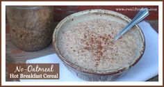 I made this no-oatmeal using pecans because I think they have a really nutty, mild flavor. The flax and the chia seeds give the cereal a gel that creates the creamy texture I was craving.
