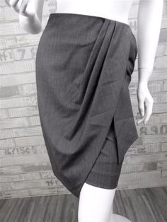 Auth-595-New-Runway-Paul-Smith-Black-Label-Wool-Skirt-4-US-38-EU-S-England