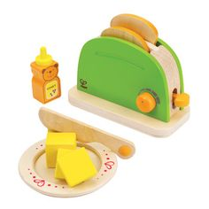 Pop-Up Toaster  Making toast is easy with this double-slice toaster. A pat of butter and a dab of honey to finish the job.  Age 3 to 99 Years
