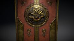 Old Gold Chinese Door by falconssj