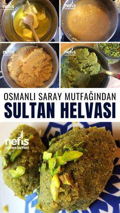 Sultan Helvası Tarifi (Osmanlı Saray Mutfağı) nasıl yapılır? 8.082 kişinin defterindeki bu tarifin resimli anlatımı ve deneyenlerin fotoğrafları burada. Yazar: Tuğçe'nin Renkli Mutfağı⭐️ Halva Recipe, Turkish Sweets, Delicious Desserts, Yummy Food, Dumpling, Deserts, Food And Drink, Beef, Ethnic Recipes