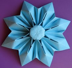 21 best origami fleur images on pinterest paper flowers paper ornament single sheet 8 petals flower mightylinksfo