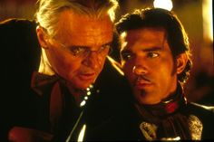 Anthony Hopkins and Antonio Banderas in '' The Mask of Zorro'' 1998 The Legend Of Zorro, Maid In Manhattan, The Mask Of Zorro, Sir Anthony, Ralph Fiennes, Anthony Hopkins, Chick Flicks, Masked Man, Old Quotes
