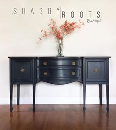 SOLD Gorgeous Antique jacobean Buffet sideboard in deep Blue. Gray Painted Furniture, Grey Furniture, Furniture Styles, Rustic Furniture, Vintage Furniture, Home Furniture, Furniture Design, Outdoor Furniture, Industrial Furniture