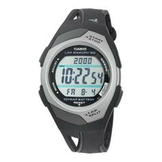 Casio Men's STR300C-1V Runner Eco Friendly Digital Watch Casio. $24.90. Auto LED light; Dual time. Stopwatch with 60 lap memory. 4 daily alarms plus snooze. Pace signal; Distance calculation; Countdown timer. Water-resistant to 165 feet (50 M)