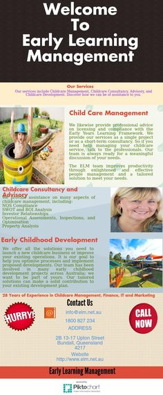 If you are searching for Childcare management services in Australia.   Early Learning  Management provides high-quality services to meet your   specific needs and goals. Get advice from experienced childcare professionals.