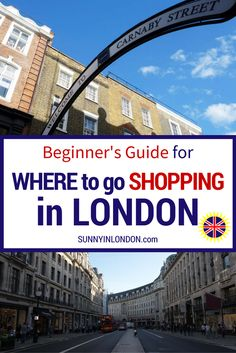 Shopping in London- An American's Guide