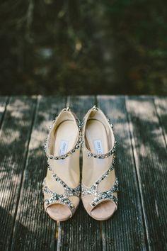 Jeweledy Jimmy Choo Bridal Booties | photography by http://www.natasjakremersblog.com/