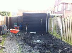 afgraven bouwgrond en daarna de klei...