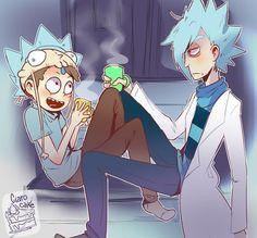 Zero and Super Rick Fan Morty