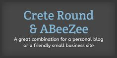 10 Fresh Font Combinations - Crete Round & ABeeZee