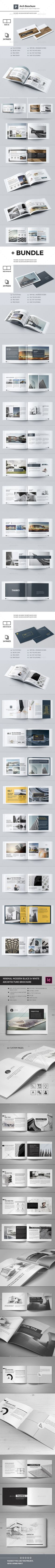 New Modern Architecture Brochure + Bundle — InDesign INDD #modern #logo • Download ➝ https://graphicriver.net/item/new-modern-architecture-brochure-bundle/18814312?ref=pxcr