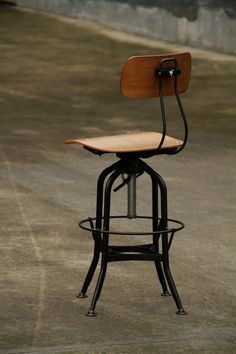 """For my desk: 2 pieces-Rustic Metal & Wood Industrial Drafting Stool """"Toledo"""" style Bar stool"""