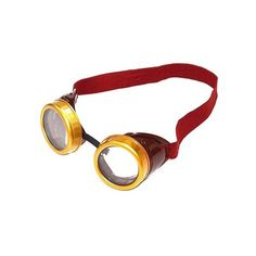 Adult Steampunk Goggles, Men's, Brown (13 CAD) ❤ liked on Polyvore featuring men's fashion, men's clothing, men's costumes, brown and halloween