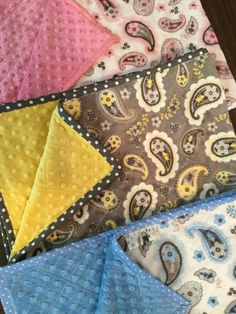 Quilted Classic Pretty Paisley Minky Baby Blanket by SewBabySewCreations on Etsy