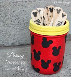 Disney Trip Mason Jar Countdown