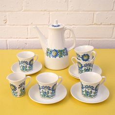 Image of Vintage  Figgjo Flint 'Turi'  Coffee Set