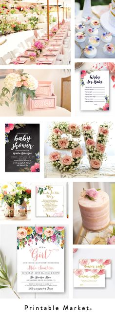 Floral Baby Shower Inspiration - Printable Market